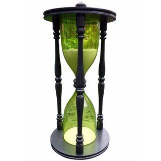 Vintage Giant Green Hourglass