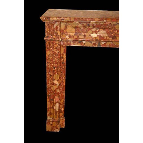 19th Century Louis XVI Breche D'alep Marble Mantel - Image 2 of 2