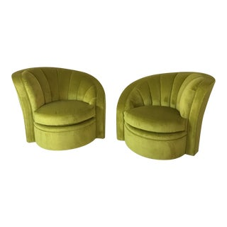 Swivel Mid Century Accent Chairs - a Pair