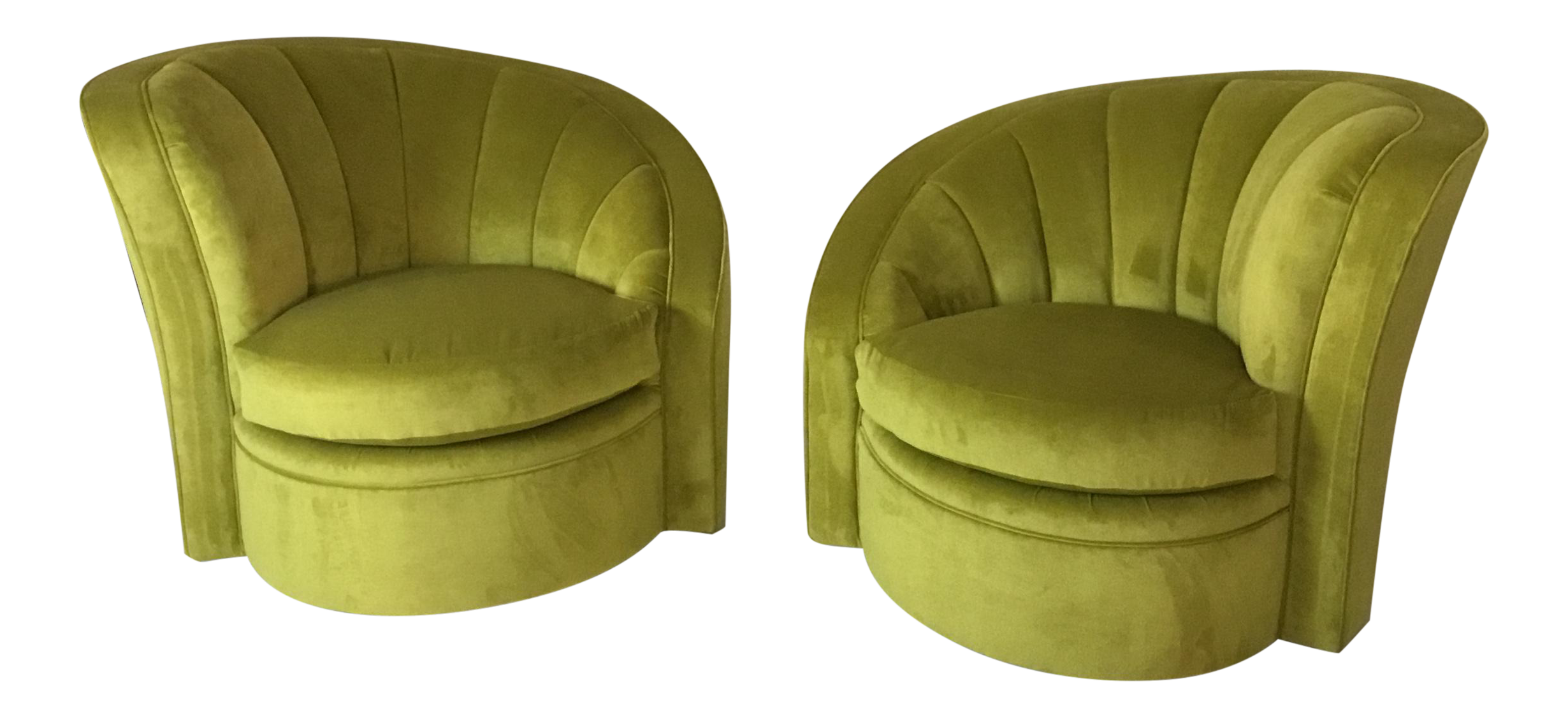 swivel mid century accent chairs a pair