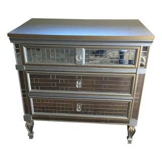 Mirrored 3-Drawer Accent Dresser