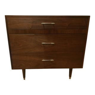 Danish Modern Low Teak Dresser Chest