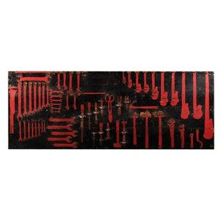 40s Tool Rack Wall Art
