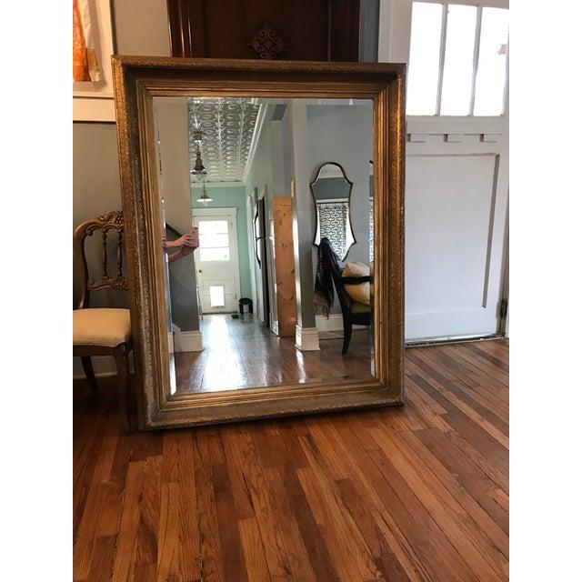 Oversized Beveled Mirror in Custom Gilt Frame - Image 2 of 9