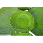 Image of Lime Green Majolica Plates - Set of 5