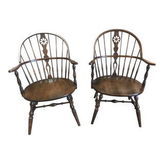 "Vintage ""Hale of Vermont"" Windsor Armchairs - A Pair"