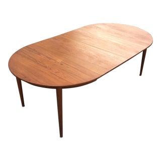 Danish Modern Extendable Teak Dining Table