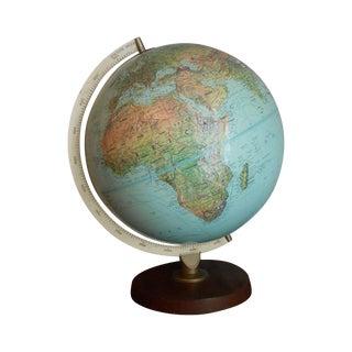 Mid-Century Relief Globe