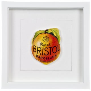 Framed Bristol Hotel Luggage Label