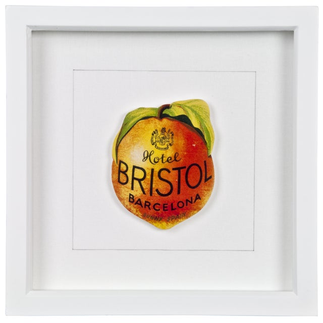 Image of Framed Bristol Hotel Luggage Label