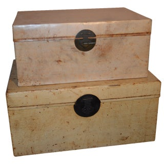 Vintage Nesting Trunks - A Pair