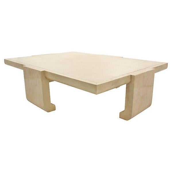 Baker Ming Leather Coffee Table - Image 7 of 7