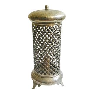 Boho Moroccan Pierced Metal Lamp Lantern