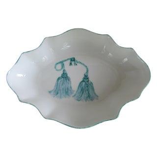 Limoges Porcelain Dish with Tassel Details