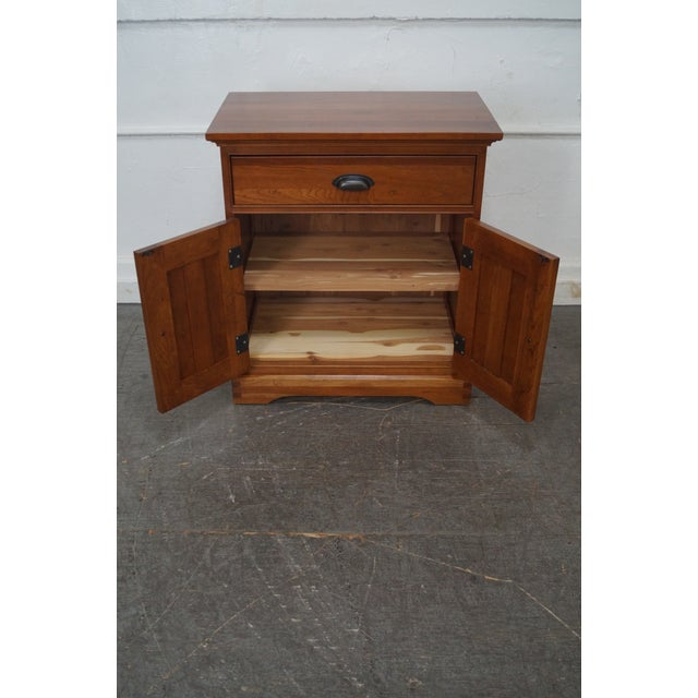 Michaels Furniture Traditional Solid Cherry Nightstands - A Pair - Image 8 of 10