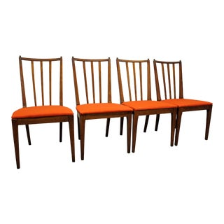 Set of 4 Mid-Century Danish Modern Spindle Back Dining Chairs