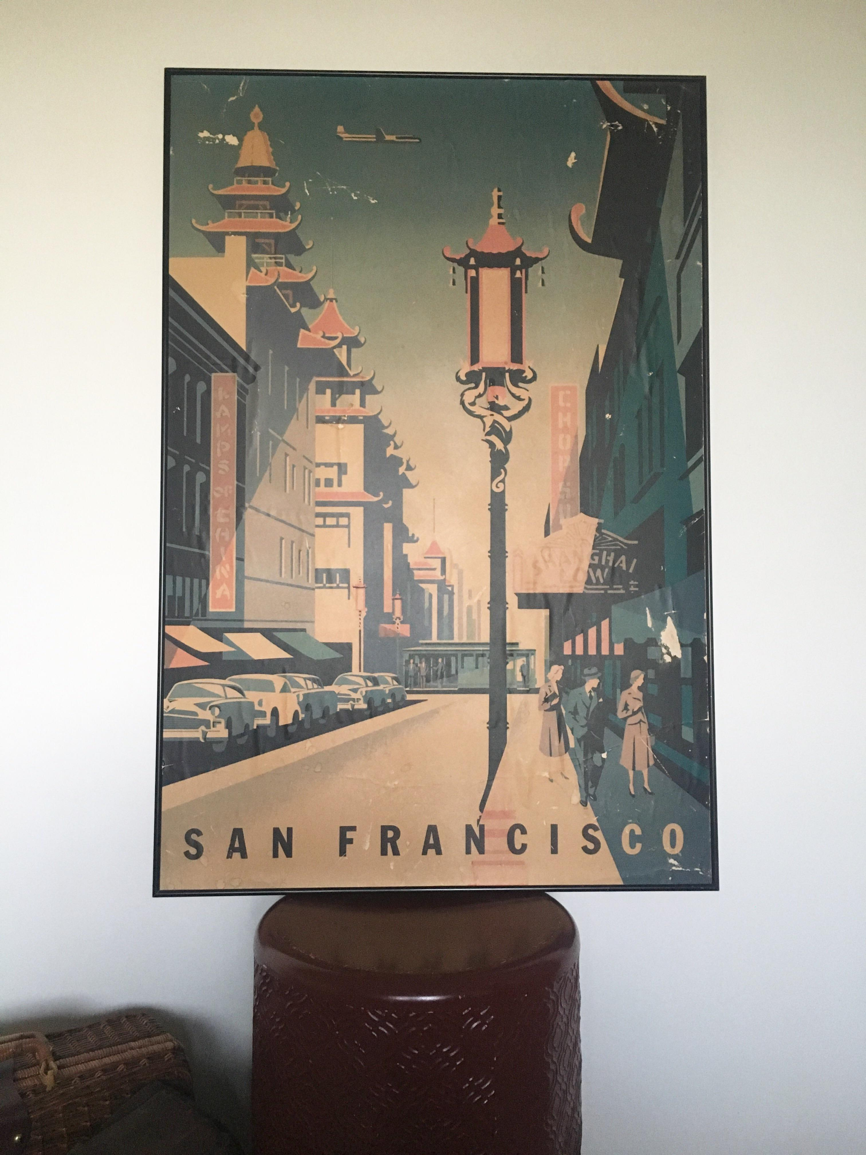 Framed Mid Century San Francisco Poster   Image 2 Of 8