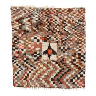 Abstract Checkerboard Berber Rug