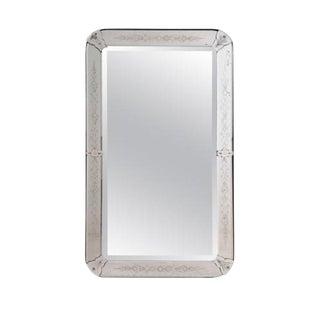 Symmetrical Mid-Century Venetian Glass Mirror