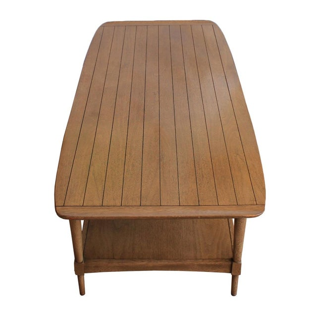 Mid-Century Walnut 'Surfboard' Coffee Table - Image 6 of 9