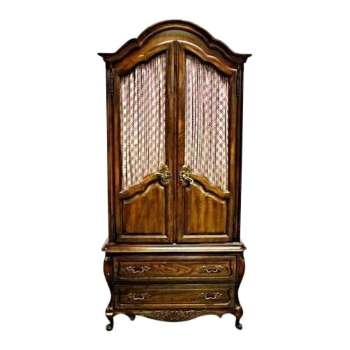 Carlton House French Louis XV Style Mahogany Armoire Cabinet - Image 1 of 11