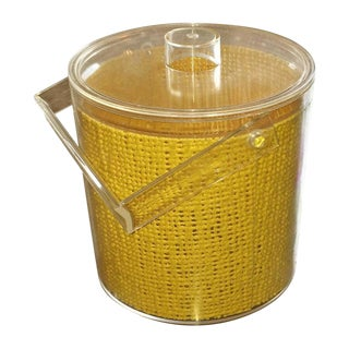 Georges Briard Mid-Century Embedded Lucite Covered Ice Bucket