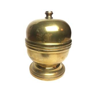 Vintage Mid Century Solid Brass Jar