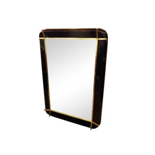 A Rare Wall Mirror in Resin and Bronze in the style of Fontana Arte