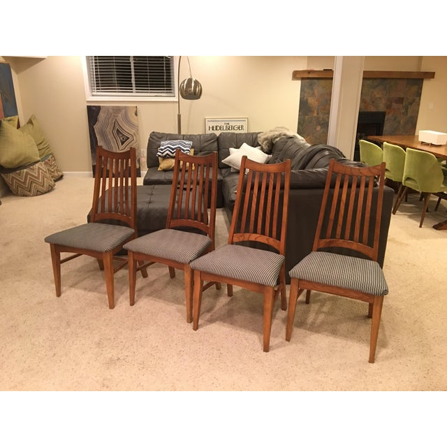 Mid-Century Modern High Back Dining Chairs - Set of 4 - Image 5 of 10