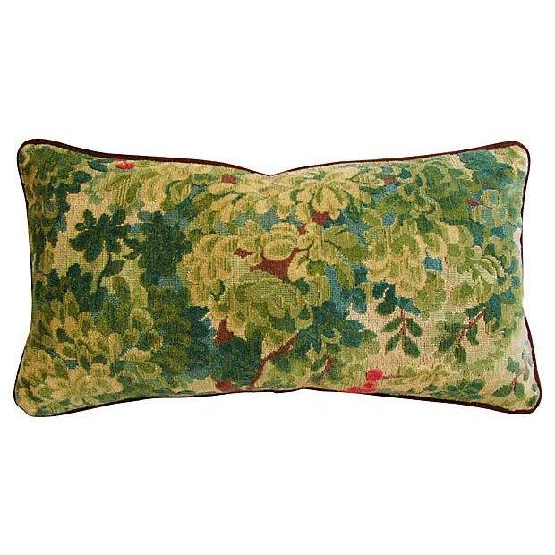 Designer Scalamandre Velvet Marly Pillows - A Pair - Image 4 of 7