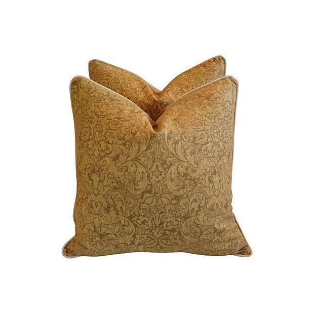 Ralph Lauren Evanston Gold Pillows - A Pair - Image 3 of 7
