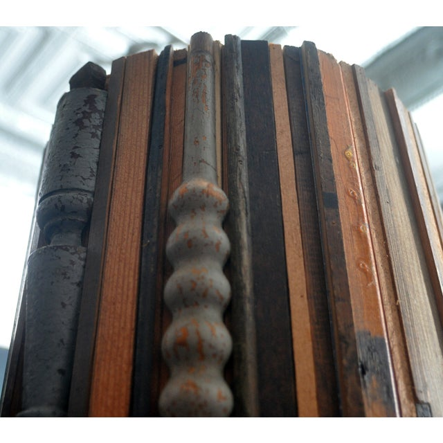 Image of Reclaimed Wood Sculptural Column