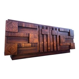 Mid-Century Modern Lane Brutalist Cubist Dresser