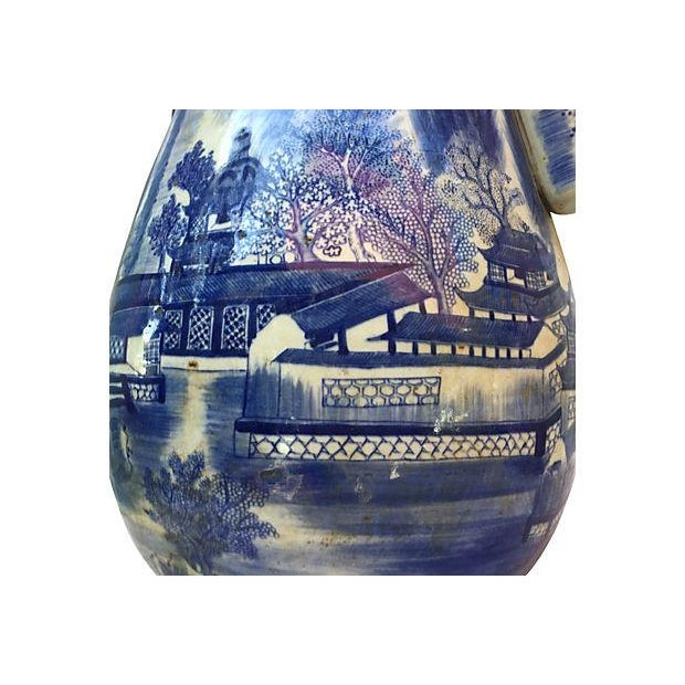 Chinese Blue & White Willow Vase - Image 5 of 6
