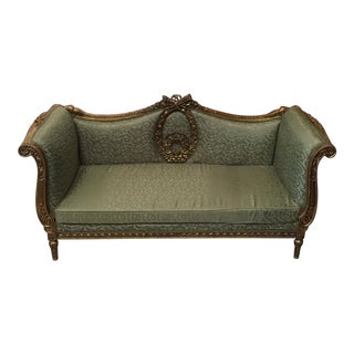 Neoclassical Gilded Wood Sofa