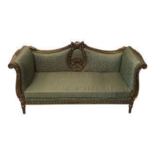 Neoclassical Gilded Wood Sofa