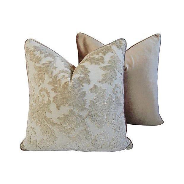 Gray French Cut/Uncut Velvet Pillows - A Pair - Image 6 of 7