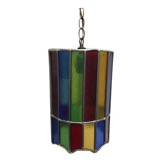 Retro Stained Glass Pendant Chandelier