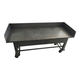 Gray Industrial Metal Cart