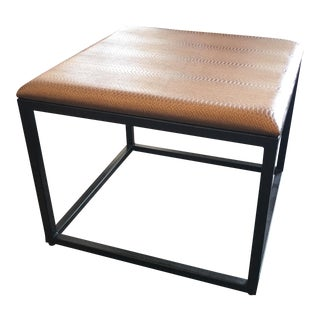 New Palecek Faux Tan Snakeskin Occasional Table