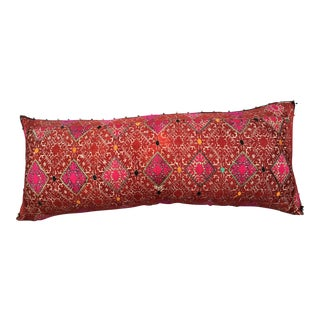 Antique Gypsy Embroidered Textile Pillow