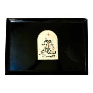 Vintage California-Themed Couroc of Monterey Tray