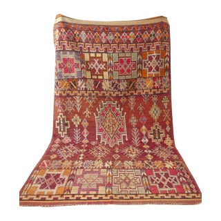 Vintage Moroccan Tribal Boujad Rug - 6' X 11'