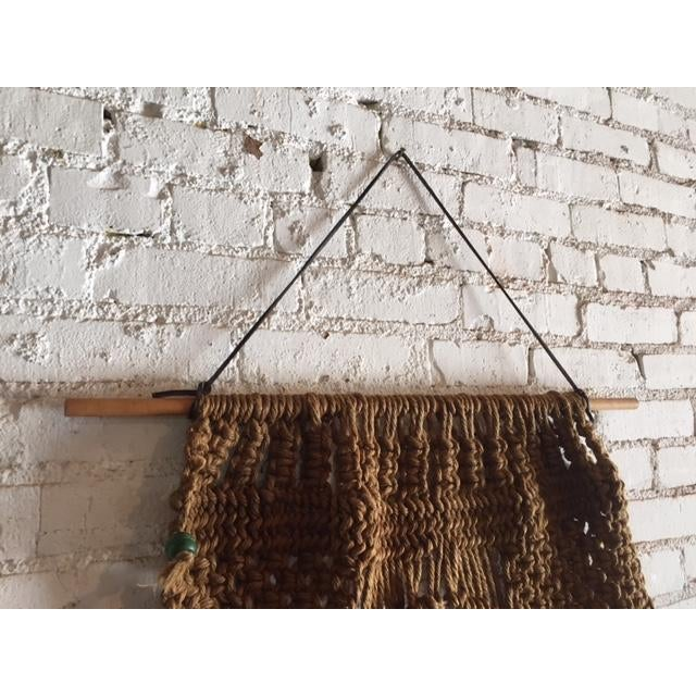 Vintage Large Weave Woven Art Wall Hanging - Image 4 of 8
