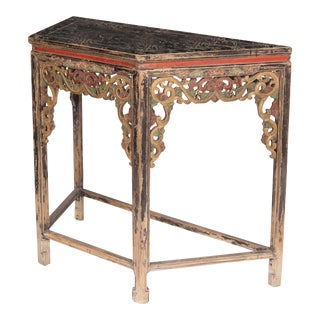Antique Sarreid LTD Replica Carved Console Table