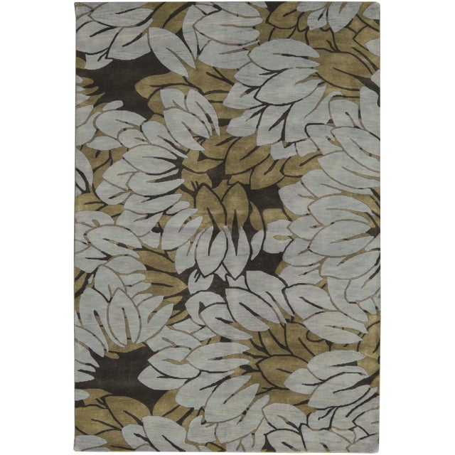 """Contemporary Hand Woven Rug - 6'1"""" x 9'2"""" - Image 1 of 3"""