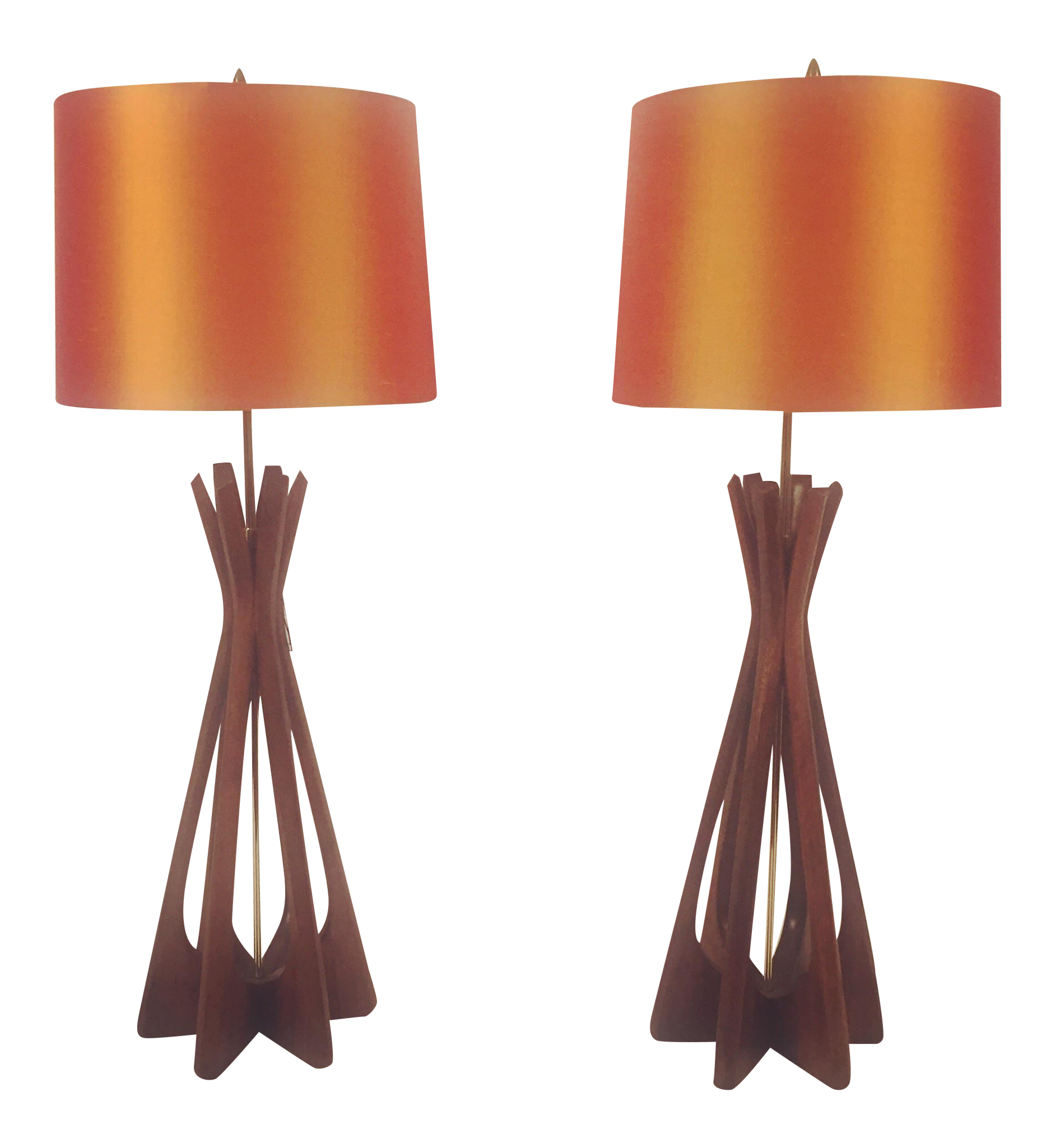 midcentury adrian pearsall lamps a pair
