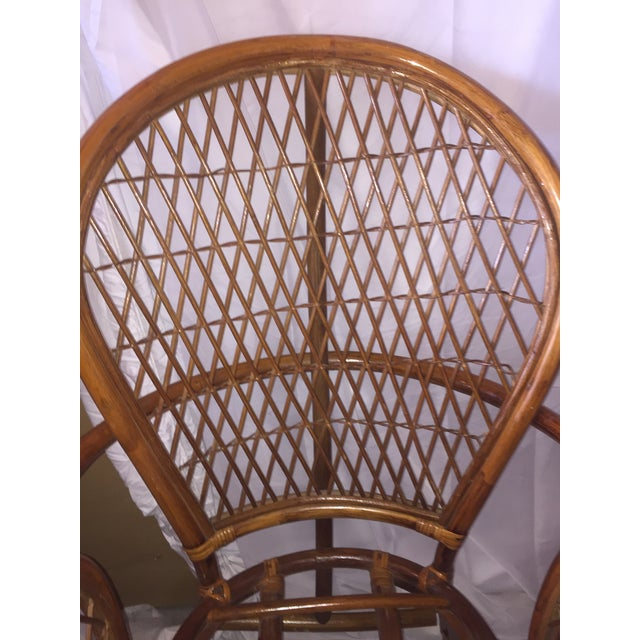 Chinoiserie Chinese Chippendale Rattan Chairs - a Pair - Image 4 of 11