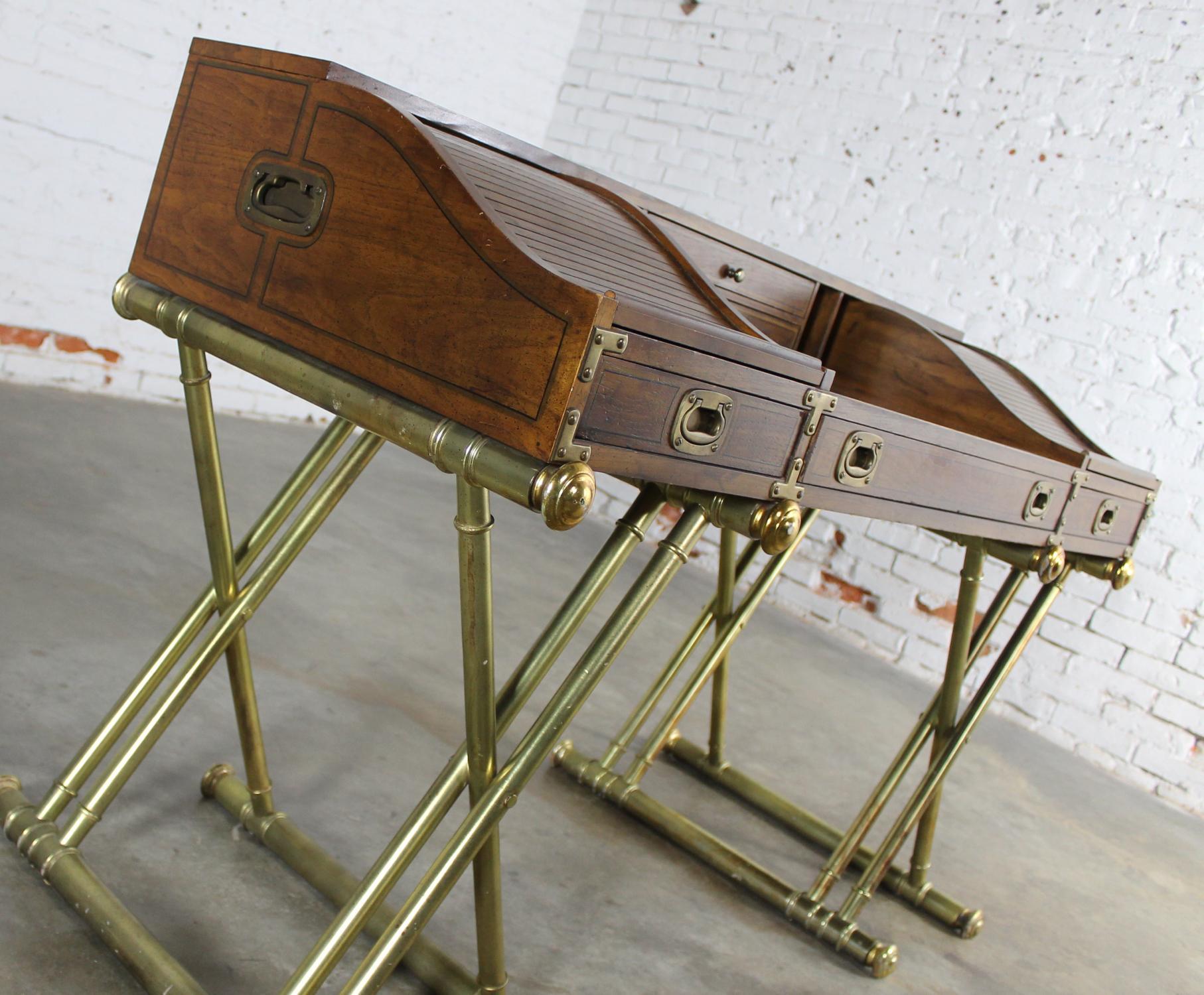 image of vintage drexel campaign rolltop desk - Rolltop Desk