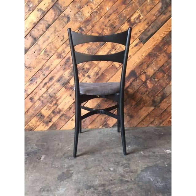 Mid-Century Gio Ponti Style Ladder Back Chairs - Set of 4 - Image 5 of 6